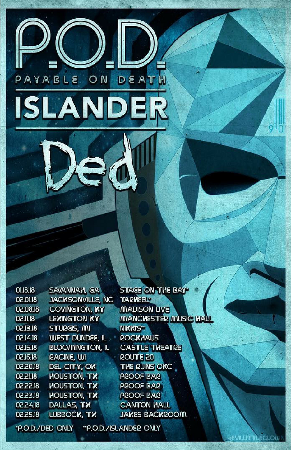 Ded with P.O.D. and ISLANDER