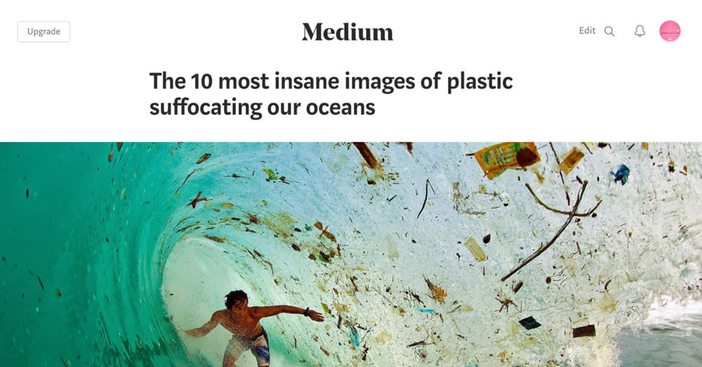 Check out these incredible (and depressing) photos of the huge issue of plastic in our oceans... click to read more.