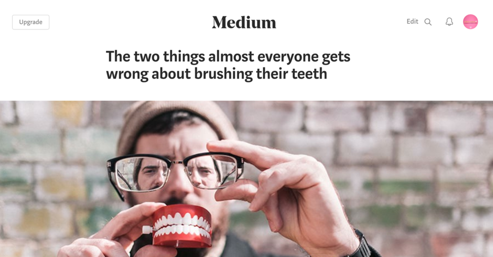 Brushing vigorously or using a medium or hard bristle are among the worst (and most common) things we do to our teeth,,, click to read more.
