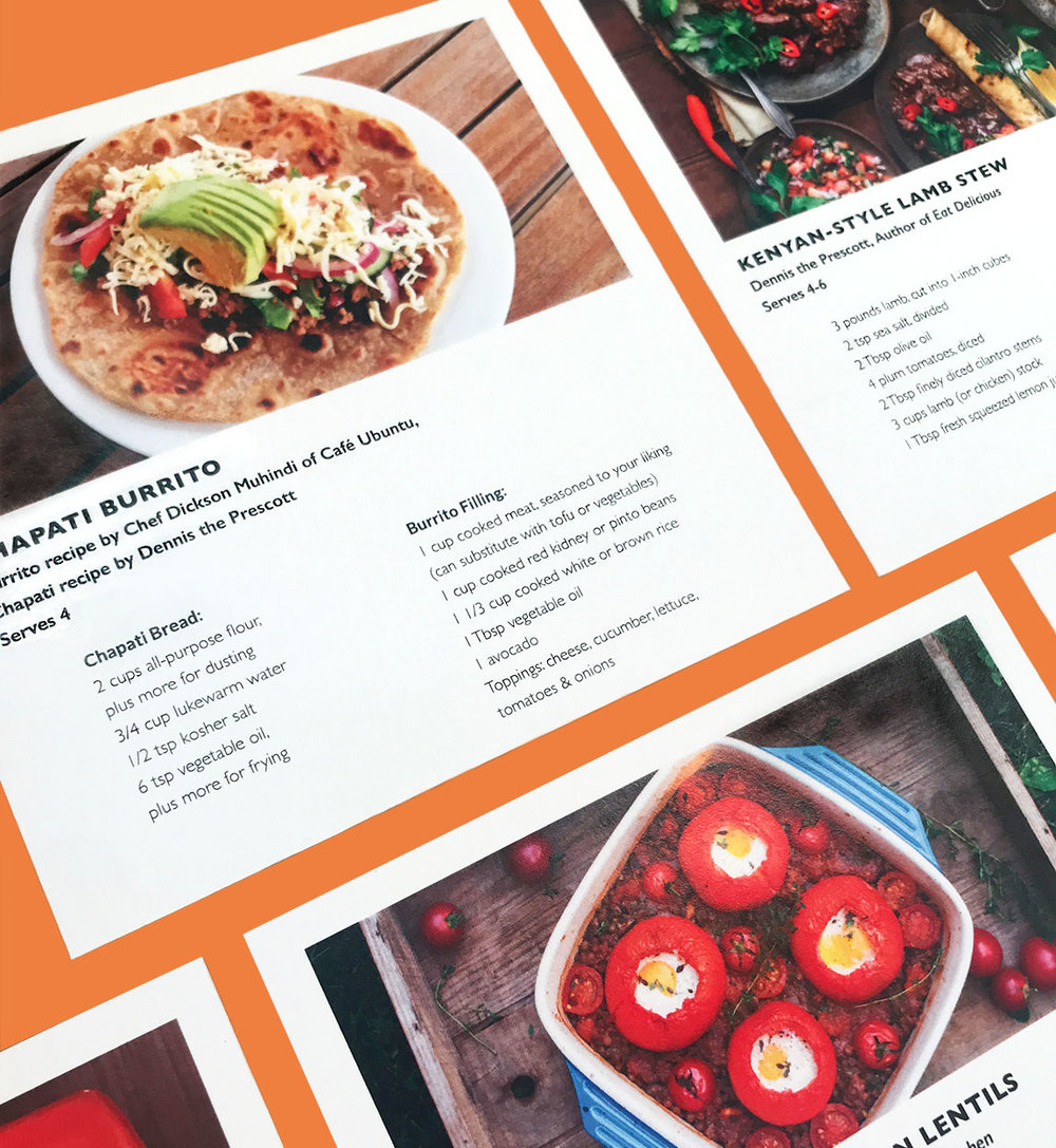 Five recipe cards shared delicious meals from Hunger Free co-creators like  Dennis the Prescott  and  Aimee Wimbush-Bourque .