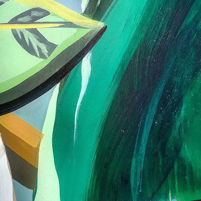 Canvassing is a great way to explore the city. @linnello discovered this wonderful mural in Congress square park before canvassing for @fairrentportland yesterday afternoon . . . . . #artsy #portlandmaine #mural #publicart #green #portland #207 #maine #theotherportland #paint #painting #closeup #texture #edited
