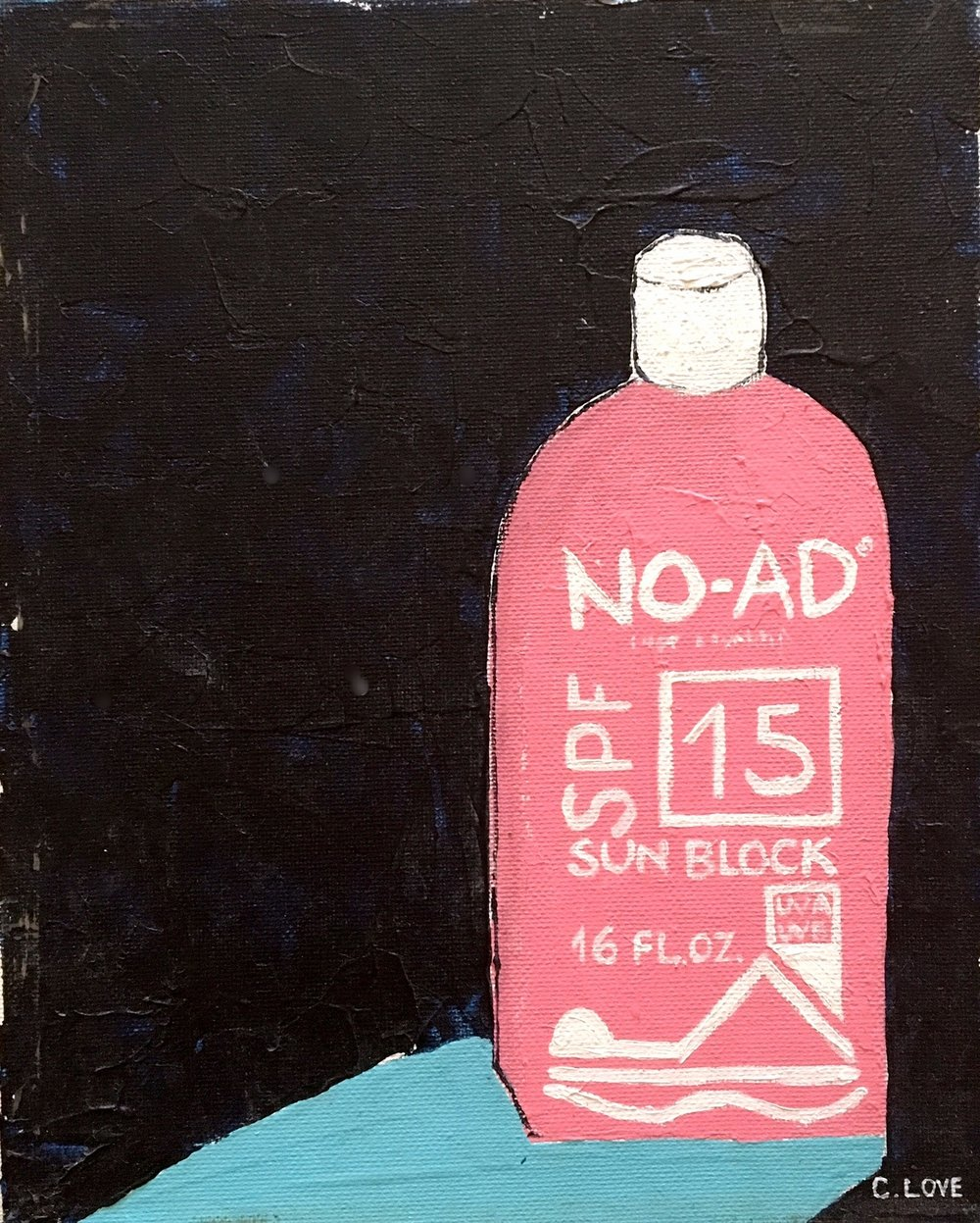 "No Ad   Acrylic on Canvas 12"" x 18"""