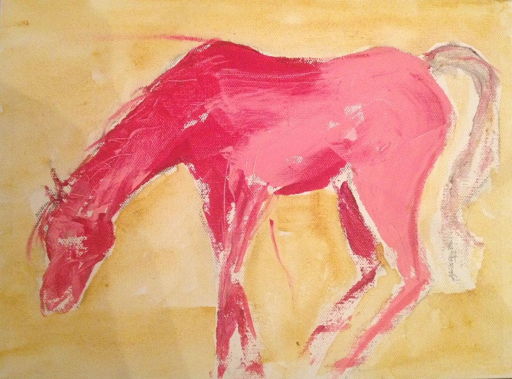 "Zuri  Acrylic on Paper  18"" x 12"""