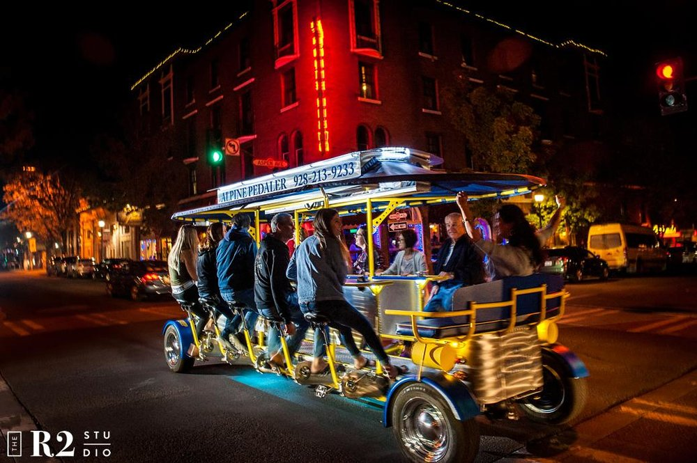 Trolley - Private Party Rentals - Get exclusive! Reserve a bike just for your group. Canned beer and wine permitted as long as all riders are over the age of 21 with proof of ID. Seats 7-14 people. $200 Deposit Required.Friday & Saturday: $345Sun-Thurs: (5% off) $325Locals Wednesdays: (40% off) $225