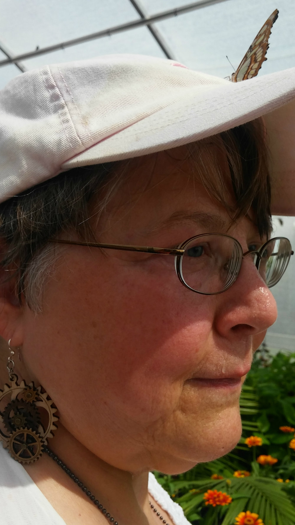 Sandra J. Lindow - lives on a hilltop in Menomonie, Wisconsin.  She teaches, writes, and edits. Her poetry can be found at Blue Heron Review, Strange Horizons, Riddled by Arrows and Gyroscope Review. Presently she is guest editor of two electronic magazines: Bramble, sponsored by the Wisconsin Fellowship of Poets and Eye to the Telescope, sponsored by the Science Fiction and Fantasy Poetry Association.