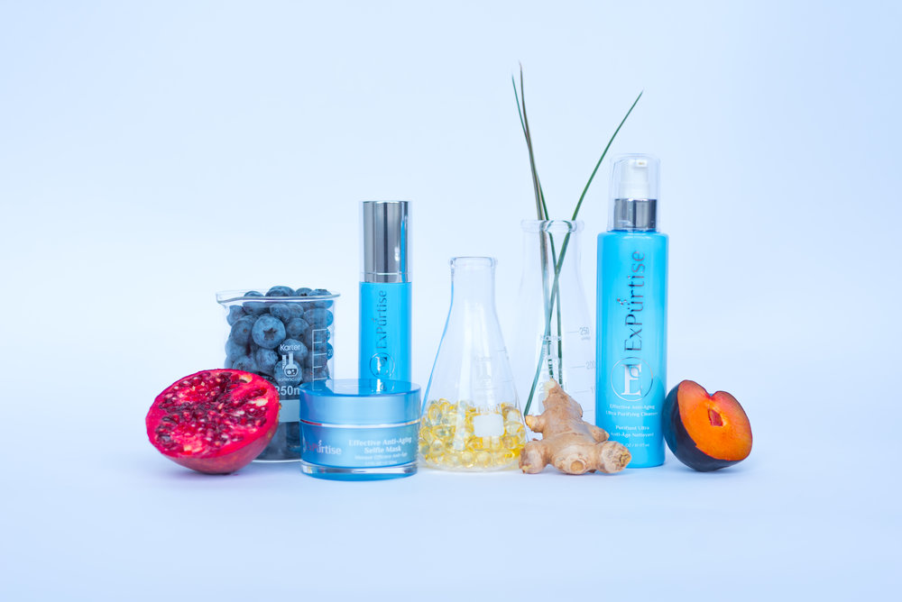 ExPurtise Ultra Purifying Cleanser, Selfie Mask, and Anti-Aging Face Treatment