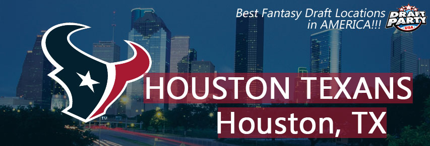 Best Fantasy Draft Locations in Houston - Fantasy football draft parties by Draft Party USA offer a premium drafting experience for your 2017 fantasy draft. We make it easy to plan and pay for your event at the best fantasy draft party locations in Houston, TX. Contact us today for current packages and pricing.