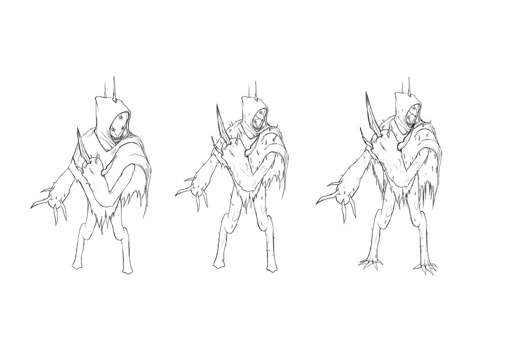 Early Assassin design sketches by  Vincent .