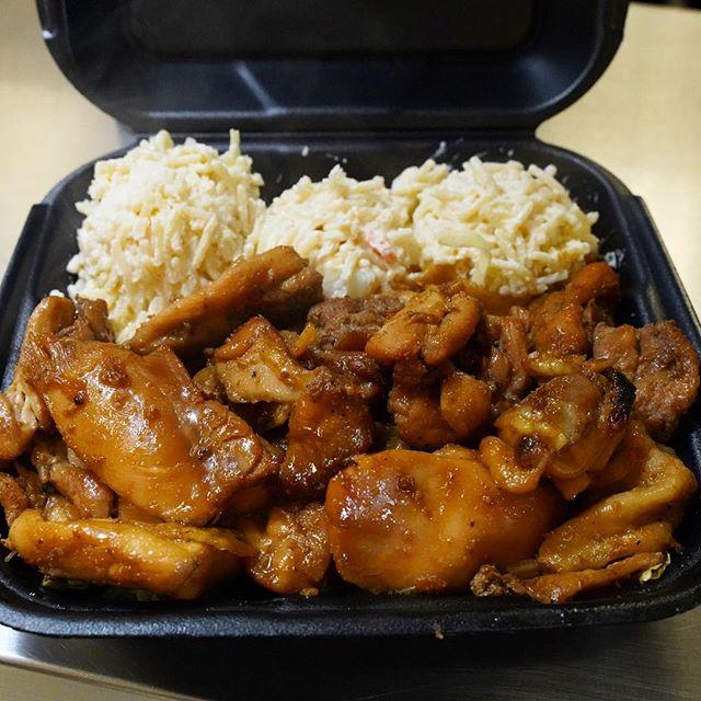Ain't nothing like... ⠀⠀⠀⠀⠀⠀⠀ Some good Teriyaki Chicken plate lunch ⠀⠀⠀⠀⠀⠀⠀ 😄 ⠀⠀⠀⠀⠀⠀⠀ #OldFaithful ⠀⠀⠀⠀⠀⠀⠀ - #TeriyakiChicken #SDFoodies #PacificBeach #HawaiianGrinds #Ono - #ISHbbq 🤙🏽
