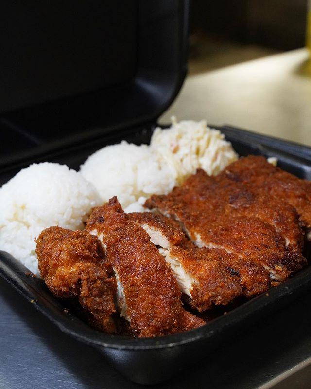 Yummmmy 🍗 - #ChickenKatsu - #Katsu #Hawaiianfood #PlateLunch #Onolicious #HawaiianGrinds - #ISHbbq 🌴