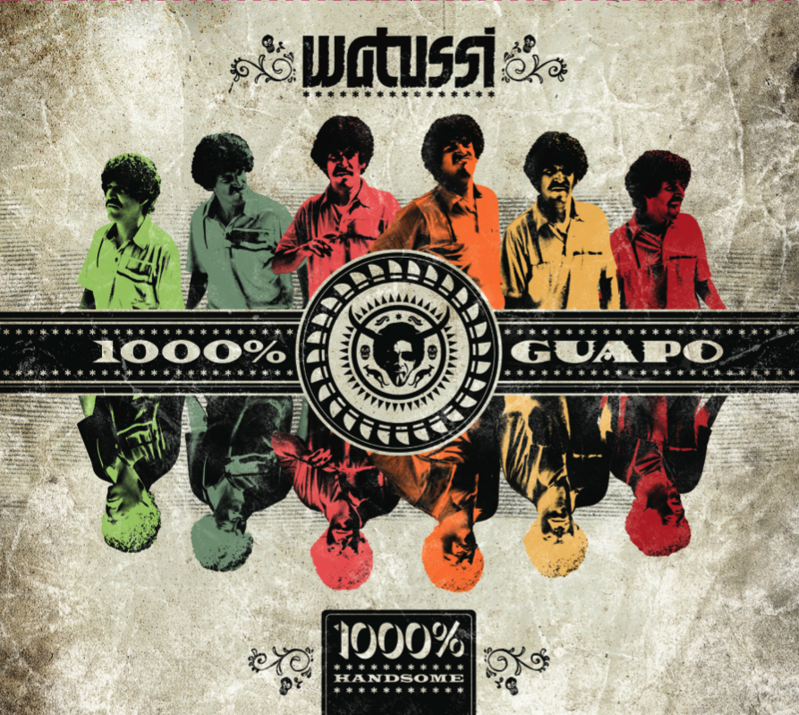 WATUSSI - '1000% HANDSOME' LP (2011 Watussi Music) - Songwriter, Lead, Rhythm Guitars, Backing Vocals on Tracks 1, 2, 4, 5 & 7 (Available on iTunes)