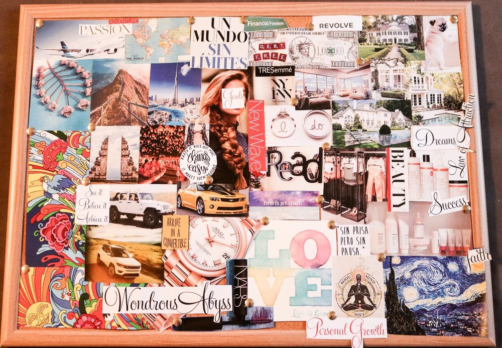 How my vision board turned out fully.