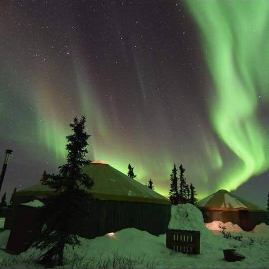aurora borealis at chena -