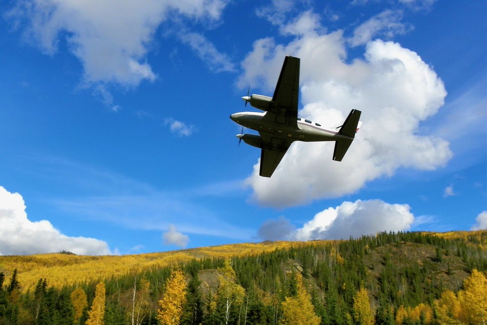 We fly on a Navaho! Personalized tour, no more than 7 guest.