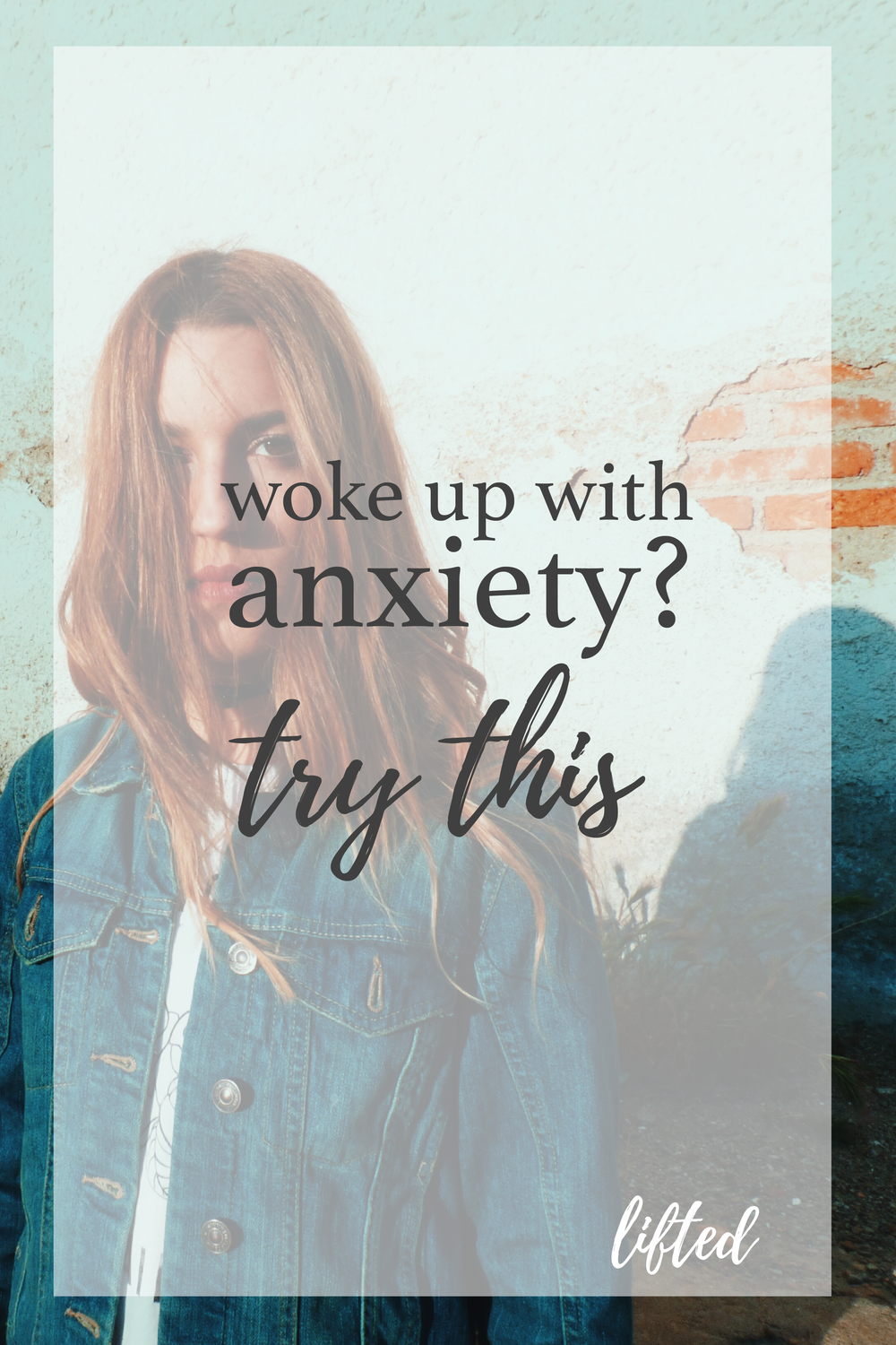 woke up with anxiety? try this