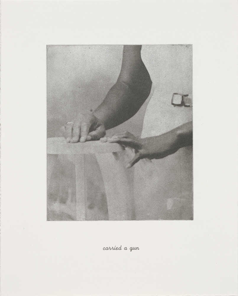 "from  Details,  1996, 10"" x 8"", portfolio of 21 photogravures with text, edition 40 + 9 AP image © Lorna Simpson, courtesy the artist and Hauser & Wirth"