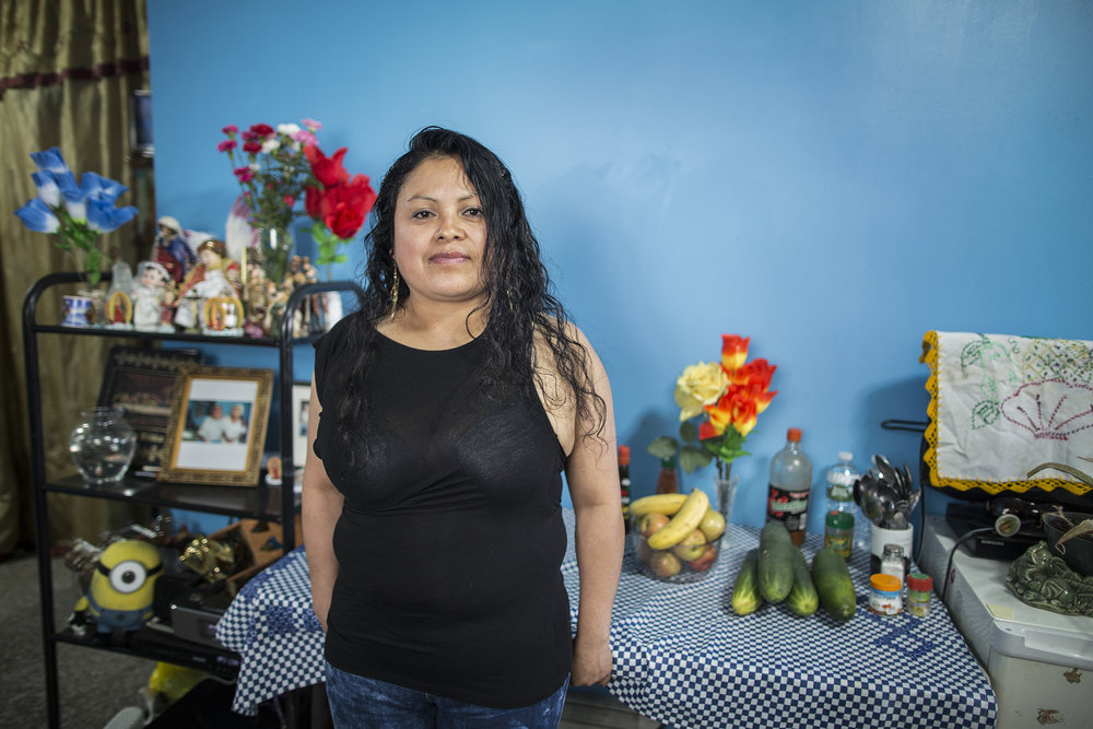 Alicia Cruz is from Acatlán de Osorio, Puebla, México. She works as a street vendor in a flea market in Sunset Park, Brooklyn.