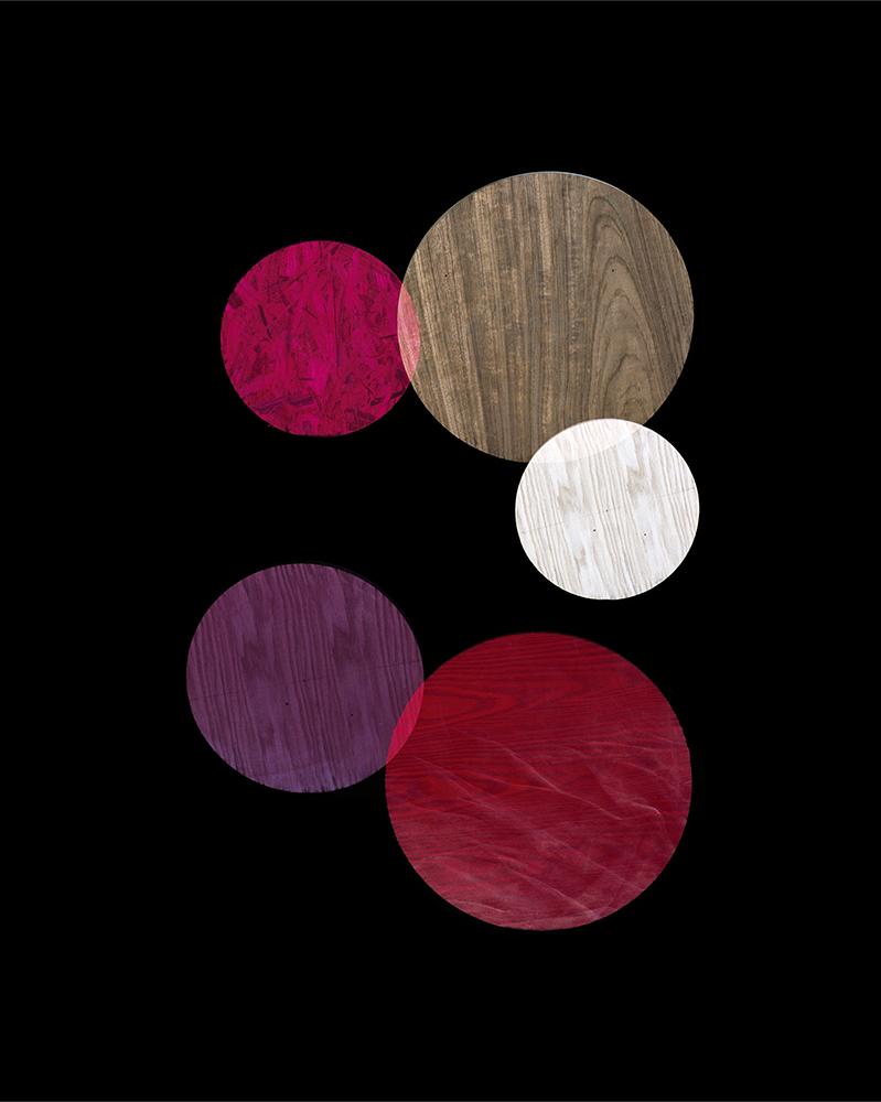 Alejandra Laviada,  Red, Purple, Pink Circles,  2014
