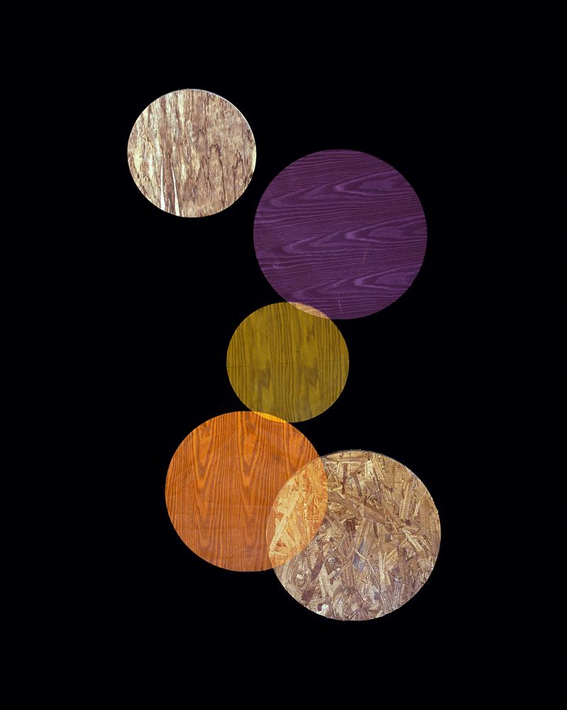 Alejandra Laviada,  Purple, Orange, Yellow Circles,  2014