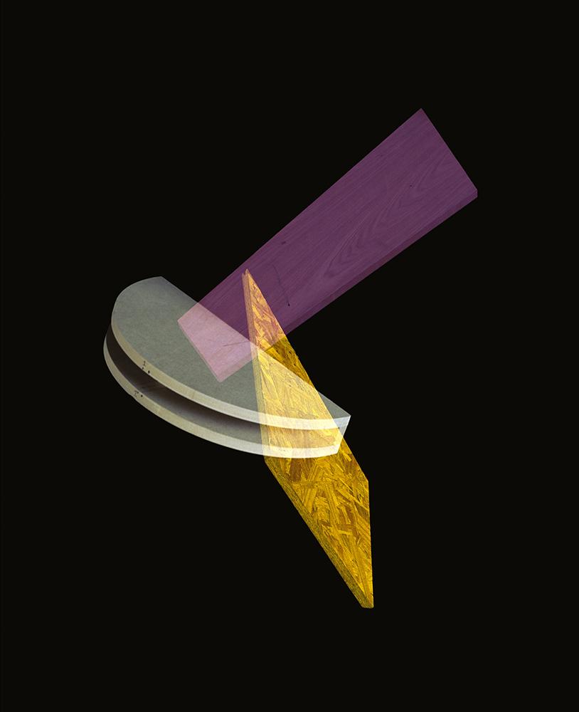 Alejandra Laviada,  Yellow, Lilac Composition,  2014