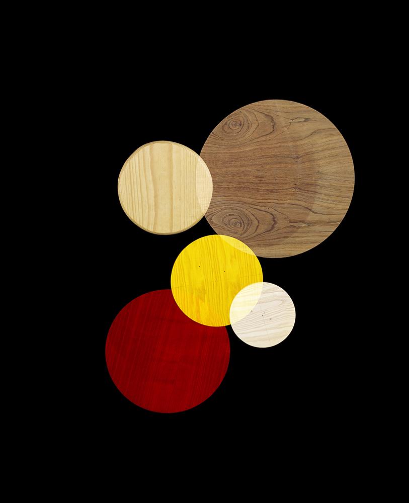 Alejandra Laviada,  Red, Yellow, Wood,  2014