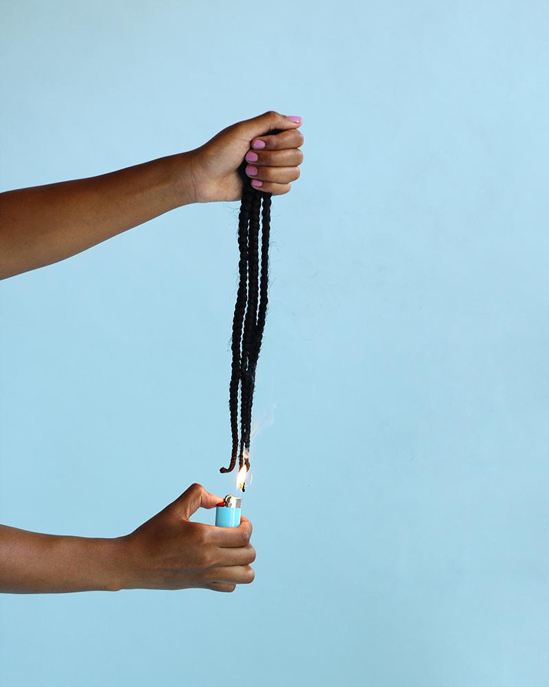 Nakeya Brown,  The Art of Sealing Ends (Part II) , from  Hair Stories Untold , 2014