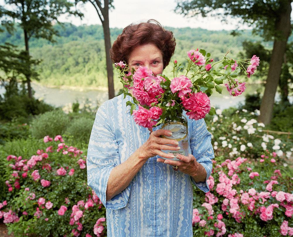 Sage Sohier,  Mum with Marie's roses, McLean, VA,  2005