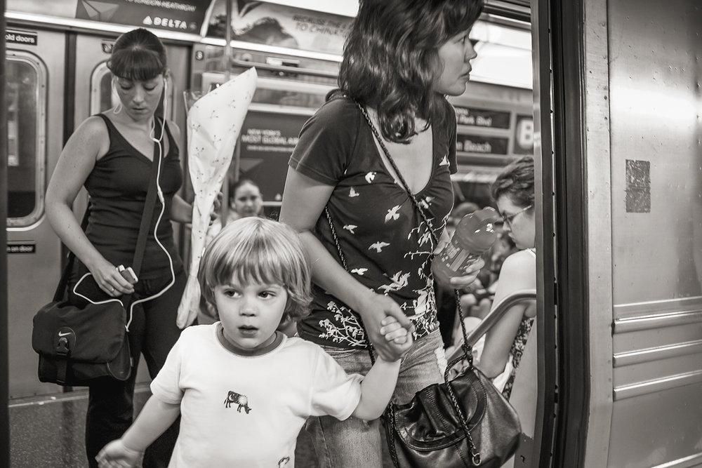 Stan Raucher,  The B Train at 42nd St, Manhattan , 2009