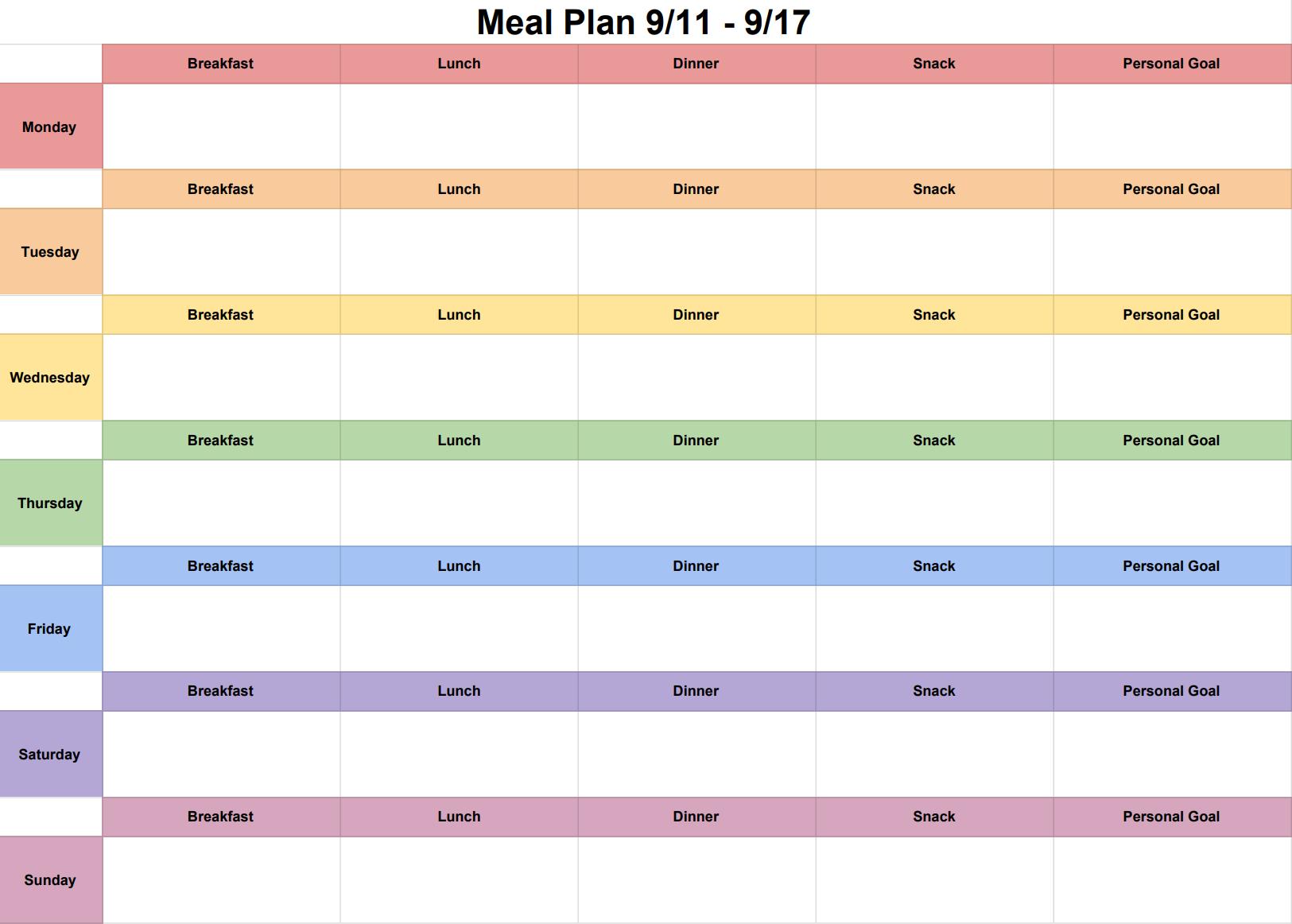 image relating to Meal Plan Calendar Printable known as My Weekly Supper Method Calendar ariellesays
