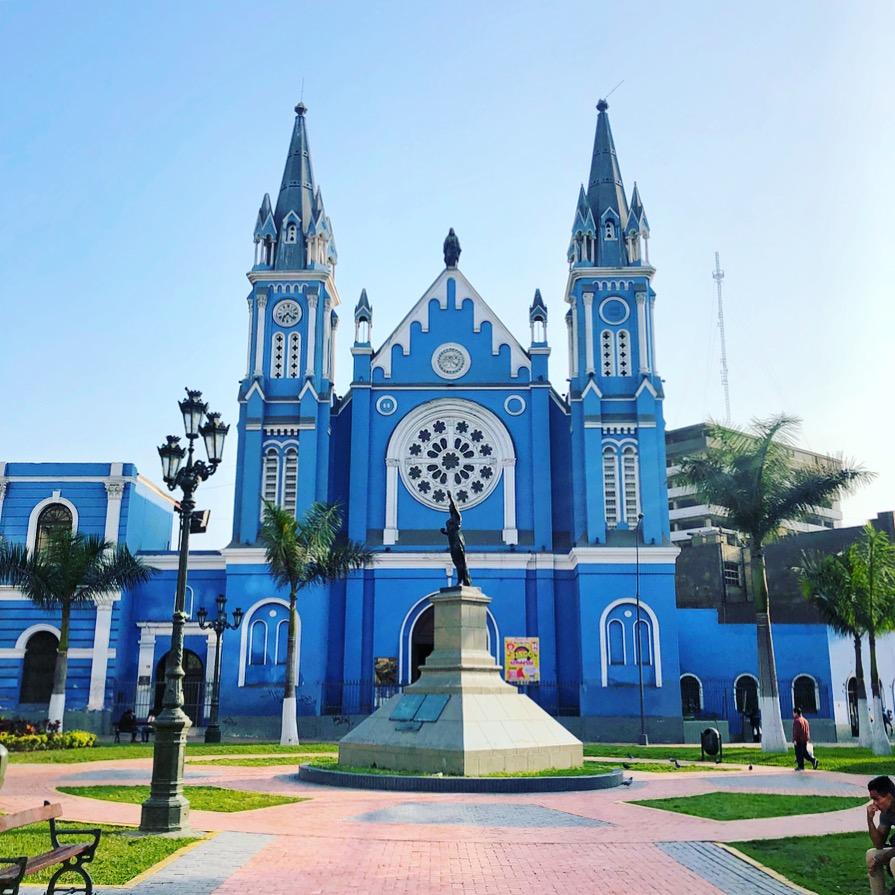 Blue church in Lima