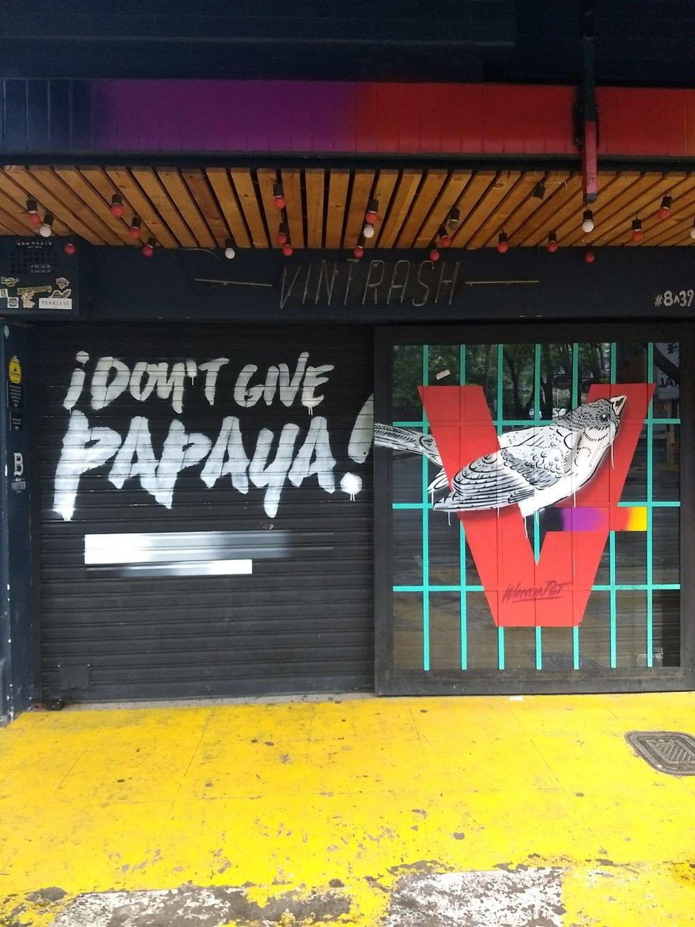 Don't Give Papaya sign