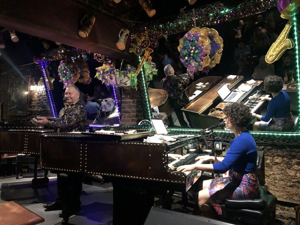 Dueling pianos at Pat O'Briens