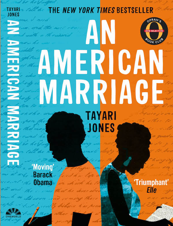 An American Marriage book cover design for Oneworld Publishing House
