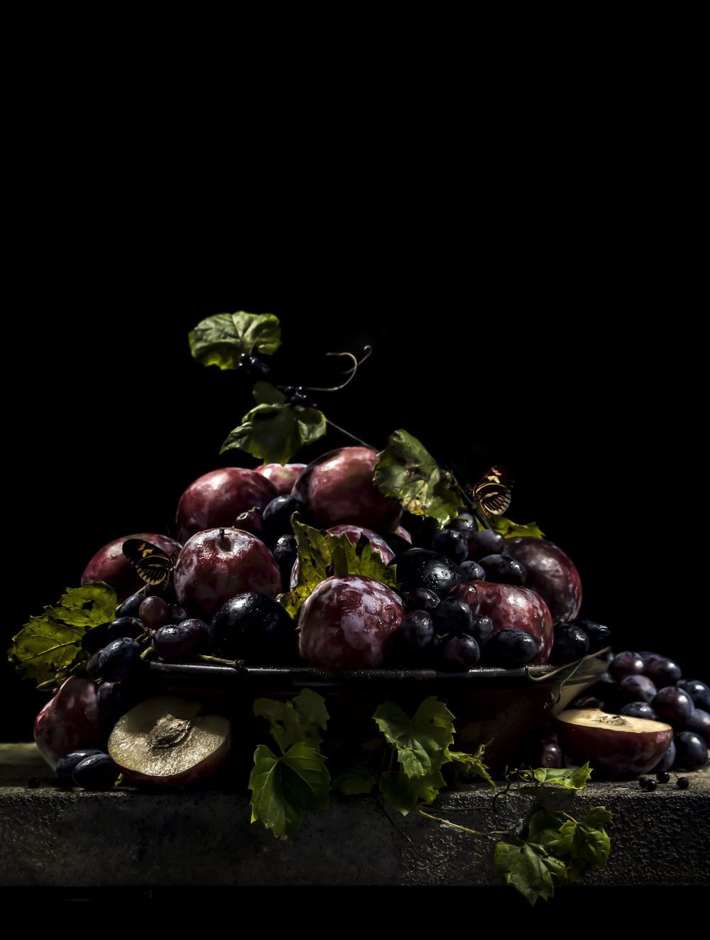 """Still Life with Orchard Plums"""