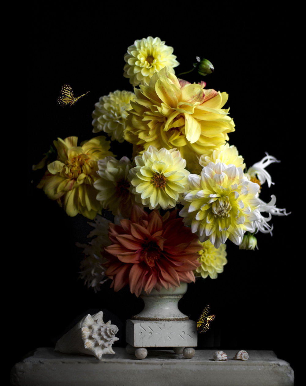 """Still Life with Dahlias"""