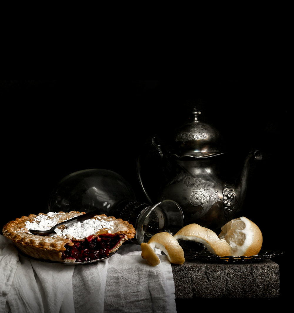 """Still Life with Fruit Pie"""