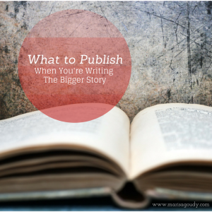 what to publish when writing the bigger story