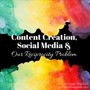 Content Creation social media and our reciprocity problem