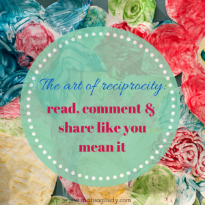 The art of reciprocity read comment share like you mean it