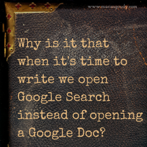 Why is it that when it's time to write we open Google Search instead of opening a Google Doc?