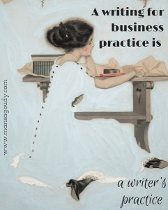 A writing-for-business practice is a writing practice - Coles Phillips Life Magazine