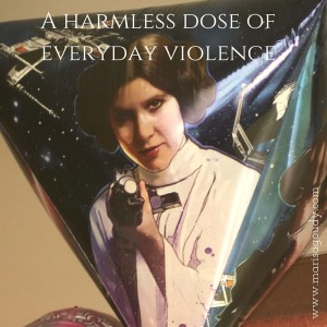 A dose of everyday violence - Princess Leia with blaster