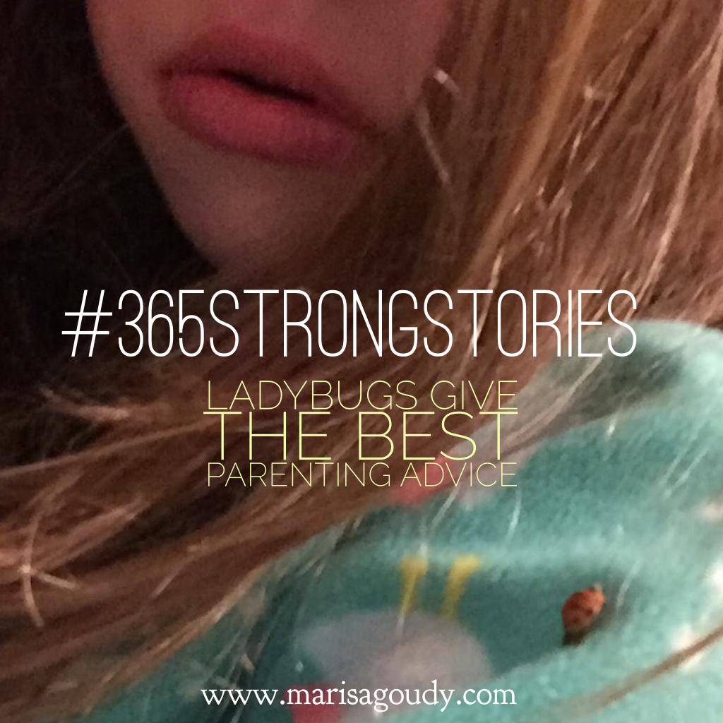 Ladybugs Give the Best Parenting Advice, #365SovereignStories by Marisa Goudy