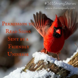 Permission to Read Signs Sent by a Friendly Universe, #365StrongStories by Marisa Goudy