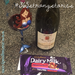 Would you like some wine with your chocolate? #365StrongStories by Marisa Goudy