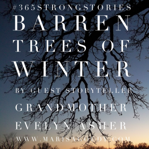 Barren Trees of Winter: Echo Grandma, #365StrongStories by Guest Storyteller Evelyn Asher