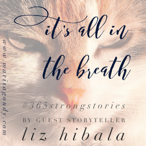 It's all in the breath, #365StrongStories by Guest Storyteller Liz Hibala
