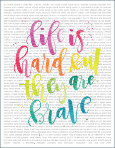 Life is hard but they are brave by Glennon Doyle Melton of Momastery