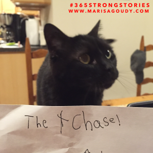The Chase! by a 6 year-old guest author + Banshee, the cat #365StrongStories by Marisa Goudy