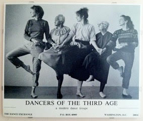 Writer's photo of dancers of the third age